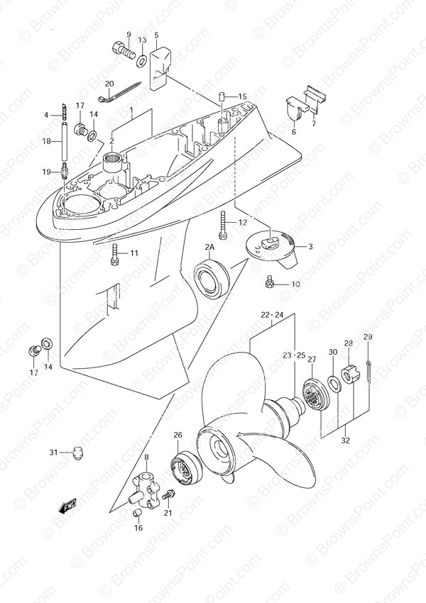 fig044 suzuki outboard parts df 60 parts listings browns point marine 1998 Suzuki DF70 Power Trim at n-0.co