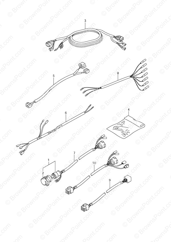 Fig 63 Opt Harness Suzuki Df 60 Parts Listings
