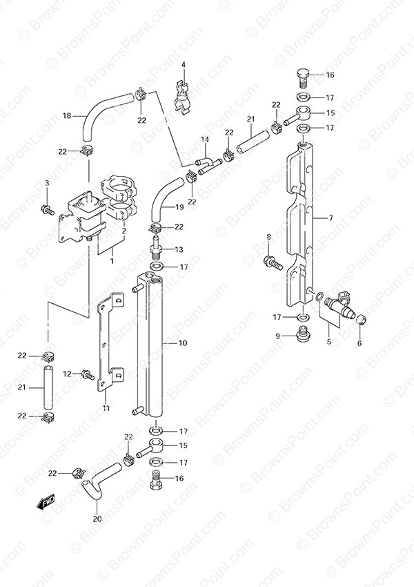 fig  11 - fuel injector - suzuki df 90a parts listings - 2009 to 2011  n 09002f