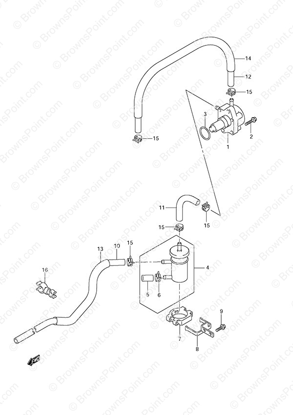 fig  14 - fuel pump - suzuki df 90a parts listings