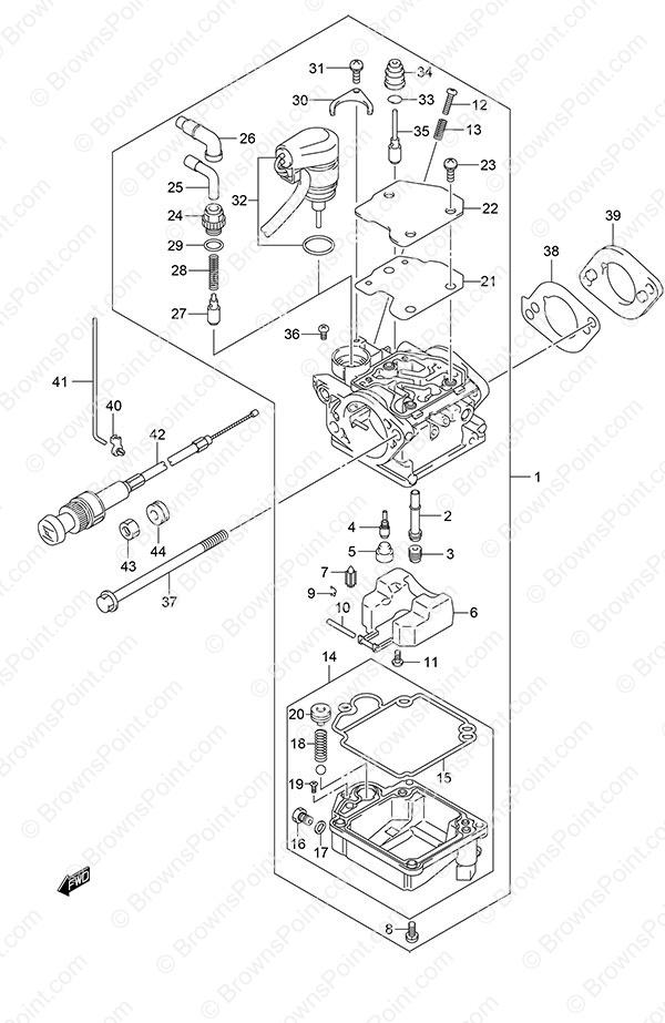 fig  15 - carburetor - non-remote control - suzuki df 9 9a parts listings - 2014  n 00994f