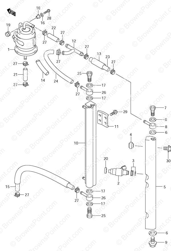 fig010 fig 10 fuel injector suzuki df 115 parts listings df 115t Boat Electrical Wiring Diagrams at crackthecode.co