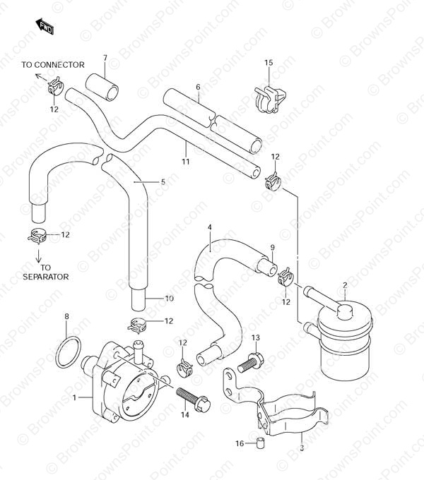 fig  12 - fuel pump - suzuki df 115 parts listings