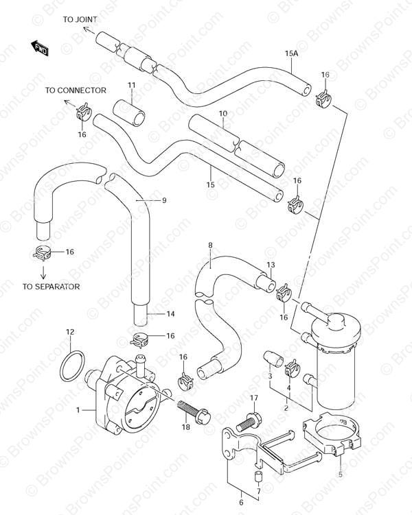 fig  13 - fuel pump - suzuki df 115 parts listings