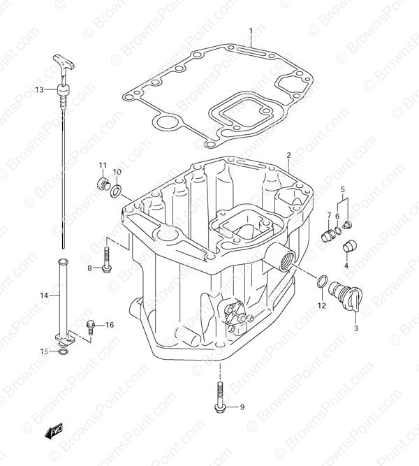 Fig 19 Oil Pan Suzuki Df 115 Parts Listings 2001 To