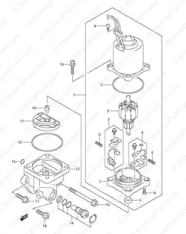 suzuki outboard anode diagram  suzuki  auto parts catalog