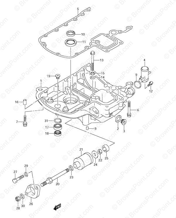 fig  38 - engine holder - suzuki df 90 parts listings