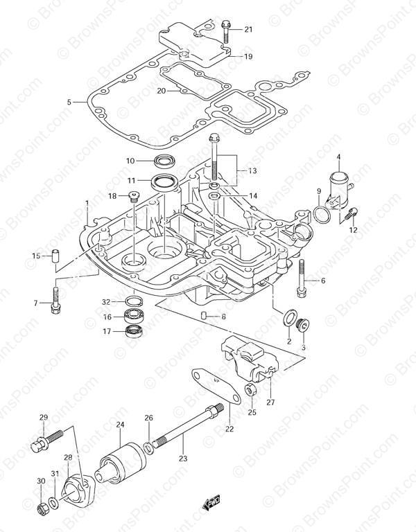 fig 39 engine holder suzuki df 90 parts listings s n 680686 05 Yamaha Multifunction Speedometer Wiring 39 engine holder