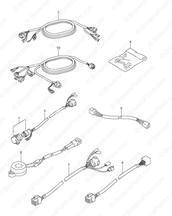 Fig 54 Opt Harness Suzuki Df 115 Parts Listings