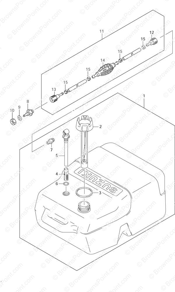 Fig  48 - Opt: Fuel Tank - Suzuki DF 15 Parts Listings