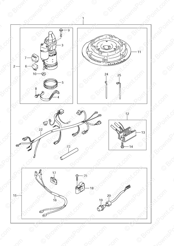 fig 79 opt starting motor manual starter suzuki df 15 parts rh brownspoint com Df- 16 Signo De Strapping Cart DF 15