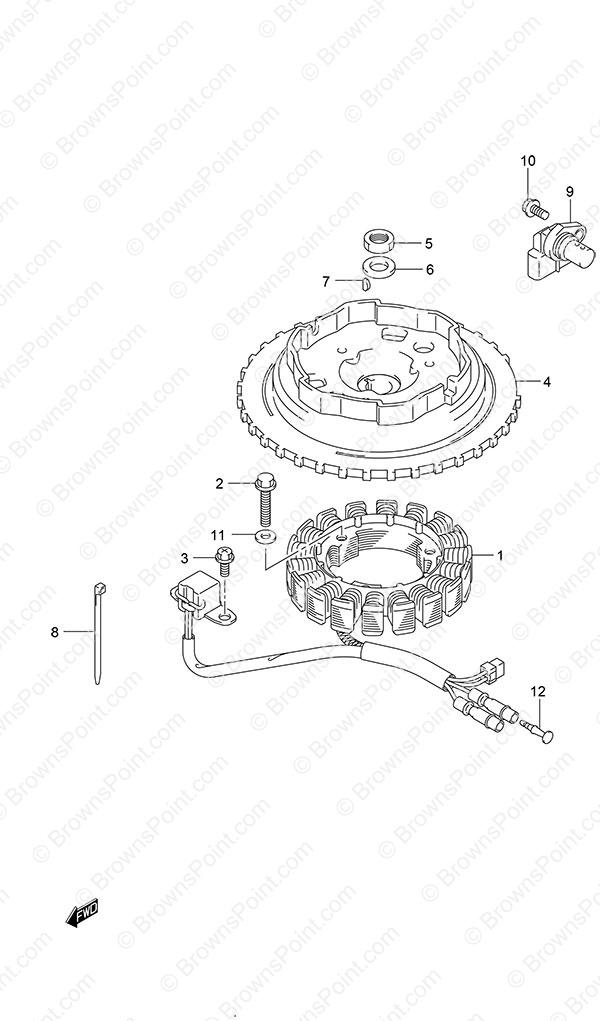 Fig  70 - Magneto - Manual Starter - Suzuki DF 9 9B Parts