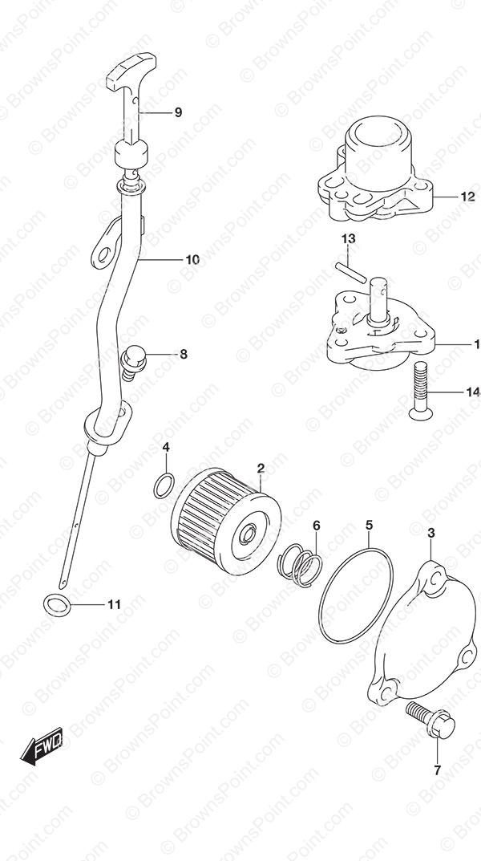 fig  175 - oil pump - suzuki df 15a parts listings