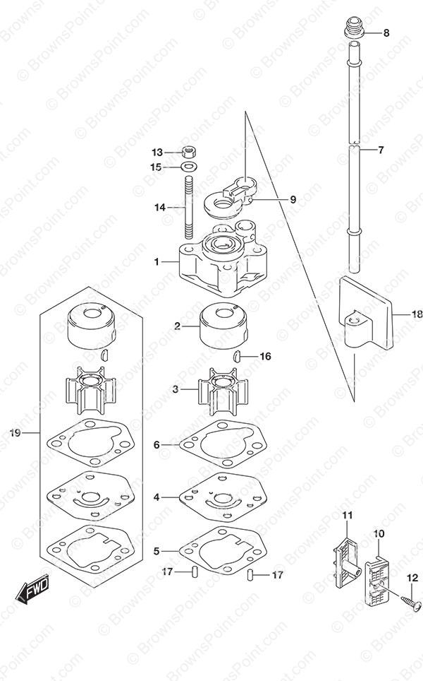 Suzuki 17473-94J00 GASKET