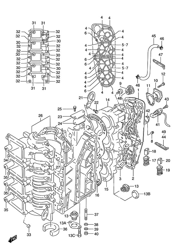 fig001 suzuki outboard parts dt 140 parts listings browns point Suzuki DT40 Outboard Parts Diagrams at mifinder.co
