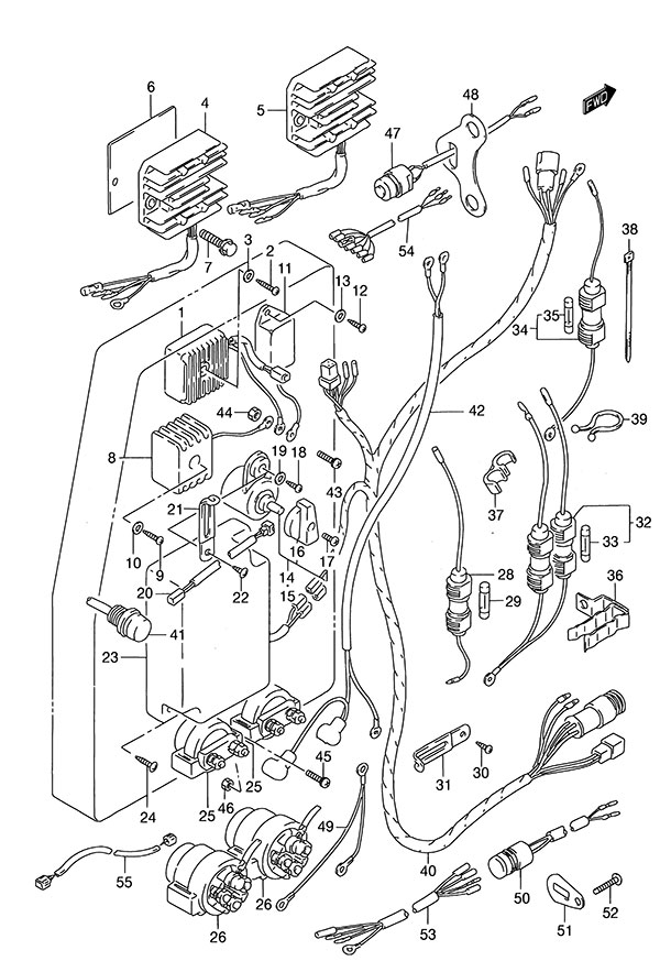 Fig  29 - Electrical - Suzuki Dt 115 Parts Listings