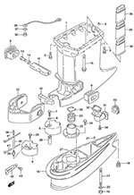 fig044 s suzuki outboard parts dt 140 parts listings browns point Suzuki DT40 Outboard Parts Diagrams at mifinder.co