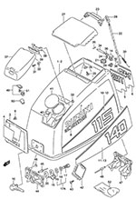 suzuki outboard parts dt 115 parts listings browns point marine Yamaha Multifunction Speedometer Wiring suzuki dt 115 fig 50 engine cover