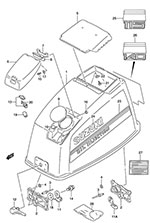 suzuki outboard parts dt 115 parts listings browns point marine Outboard Tachometer suzuki dt 115 fig 51 engine cover