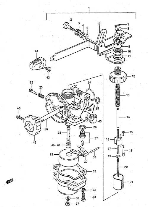 fig  4 - carburetor - suzuki dt 2 parts listings