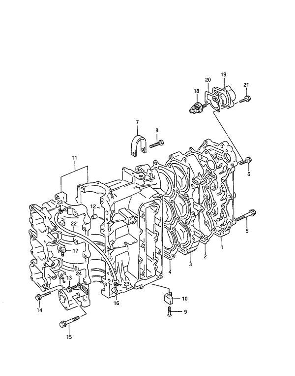 Suzuki 11141-95D40 GASKET CYLINDER