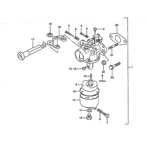 fig  5 - carburetor - suzuki dt 4 parts listings