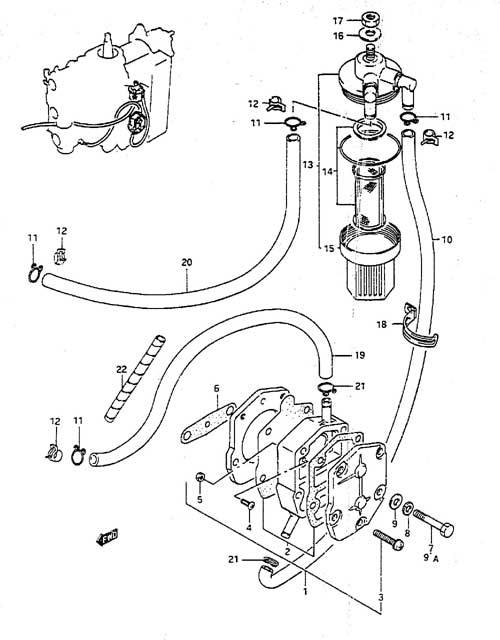 fig  6 - fuel pump - suzuki dt 65 parts listings