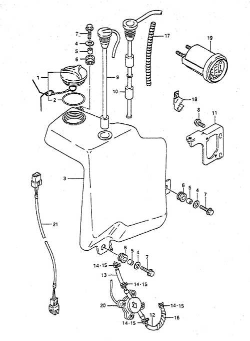 fig  40 - oil tank - suzuki dt 65 parts listings
