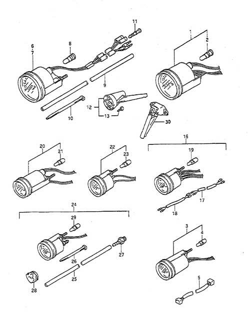 44 - meter - suzuki dt 55 parts listings<br>1988 to