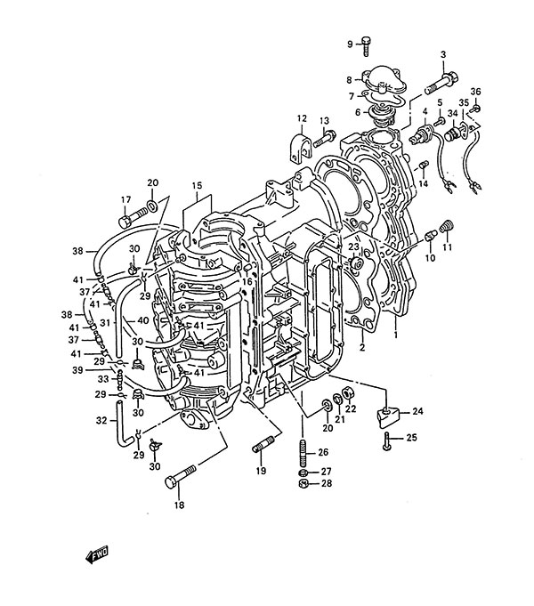 fig  1 - cylinder - suzuki dt 85 parts listings