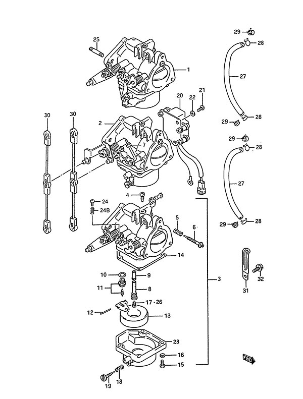 Fig 4 Carburetor Suzuki DT 75 Parts Listings 1988