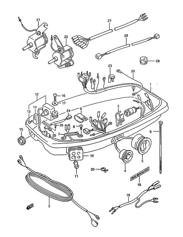 fig  16 - harness - suzuki dt 75 parts listings