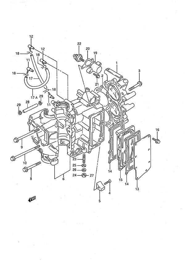 Fig 1 Cylinder Suzuki Dt 9 9c Parts Listings 1988