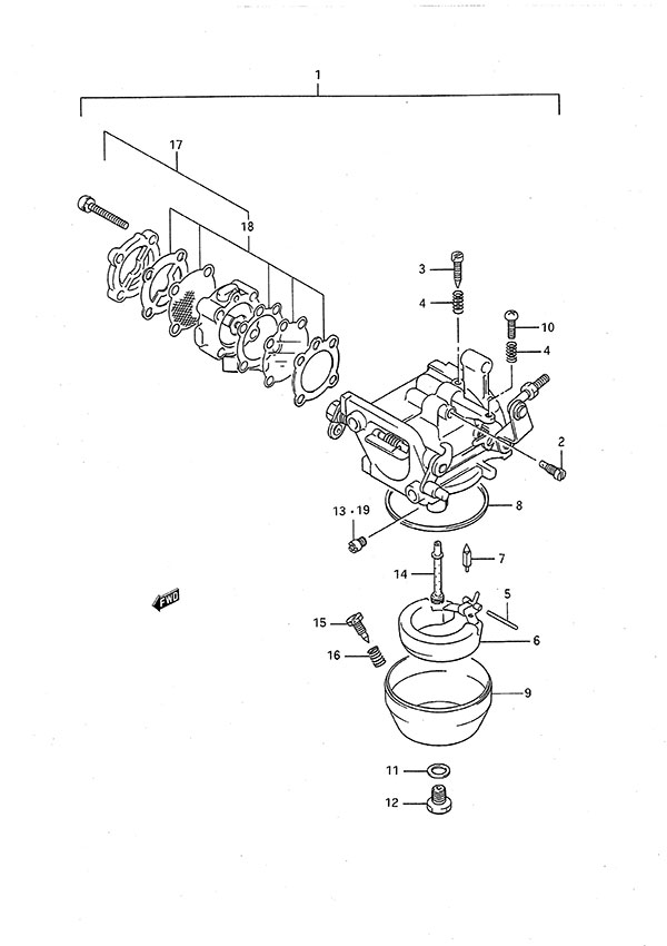 fig  5 - carburetor - suzuki dt 9 9c parts listings